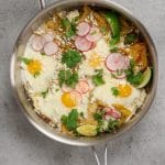 Easy Baked Chilaquiles Verdes with Toppings