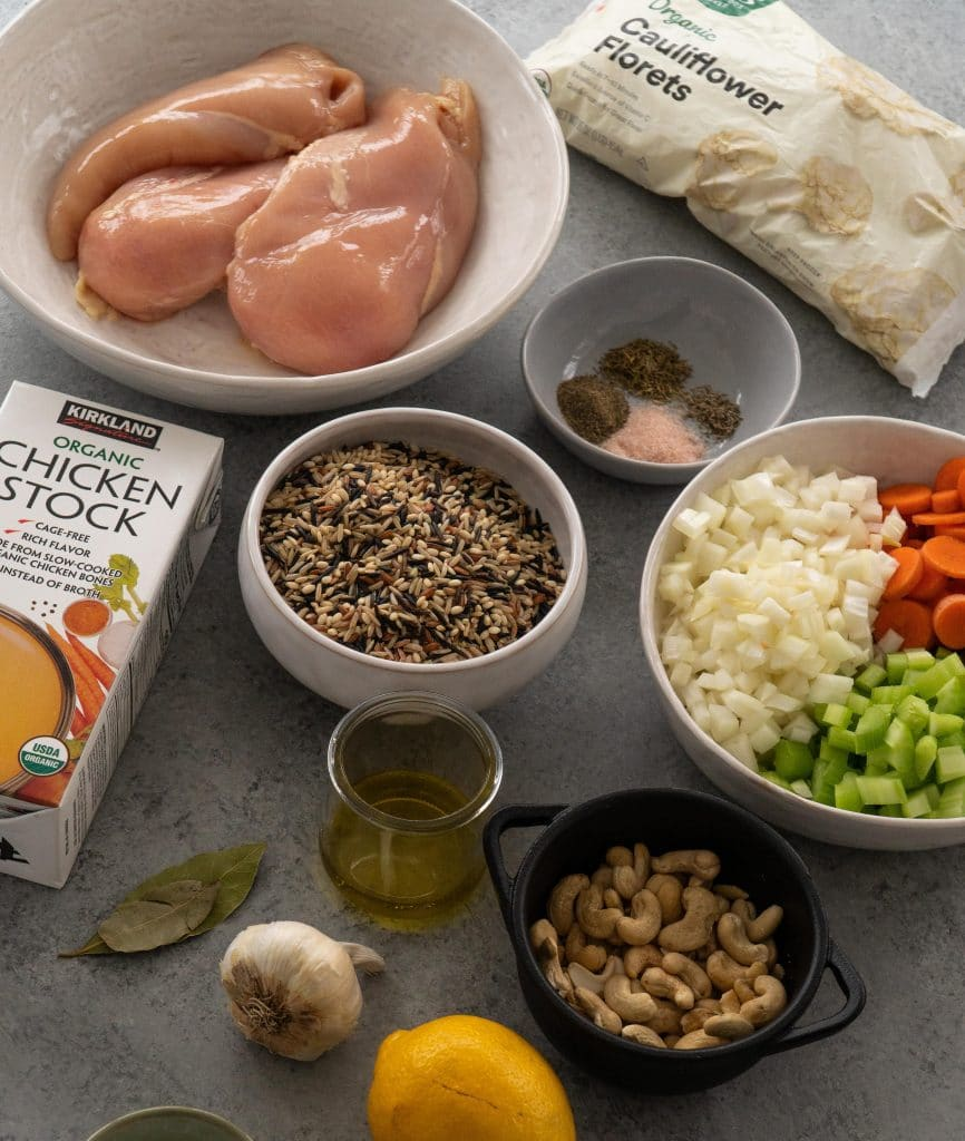 Ingredients in Dairy Free Chicken and Wild Rice Soup